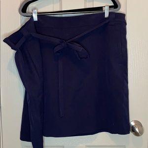Loft Plus Tie Waist shift skirt